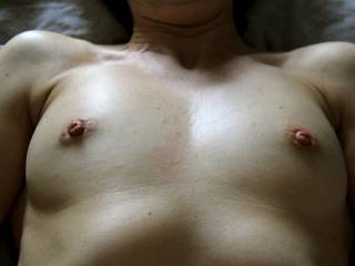 I'd absolutely love to suck on your nipples in the meanwhile!!