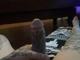 Thick tattooed cock....want sum ladies?