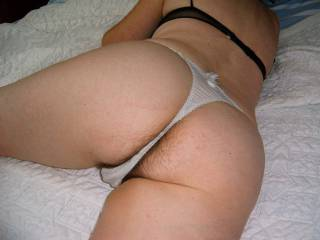 I love watching my wife'ass in her sexy panties