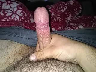 I just LOVE pushing my cock inside itself and rubbing my mangina.  Also LOVE watching it grow and DRIP...