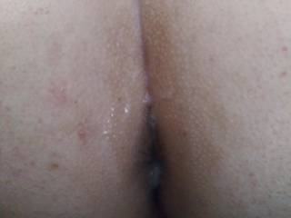 After her first MFM experience she loves taking it in the ass and sucking cock now