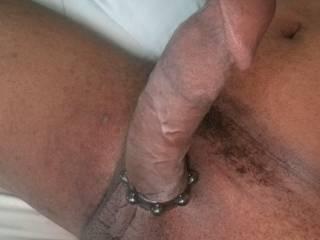 Cock ring got my dick hard af...