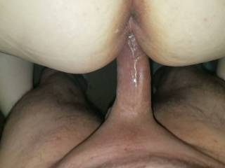 Fucking her pussy and fingering her asshole makes her cum