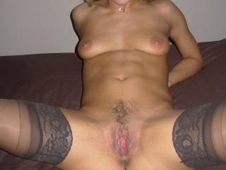Super sexy, oh soooo fuckable pussy, great tits and a lovely smile!  Cum visit us in Seattle!