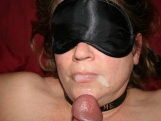 Never a waste. She can push the rest back into her mouth with her fingers or use your cock to smear it back in.