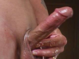 I bet that feels good. It sure looks hot. Love your big, smooth balls.