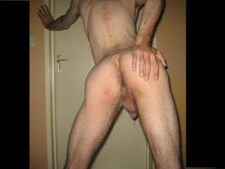 Love that hairy ass!  And is that precum leaking from your cock?  That's hot as hell!
