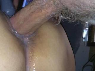 My man fucked me so good that I am dripping with cum all over . I wonder how it would  feel to have two cocks  coming inside me at the same time..