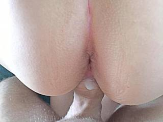 Fucking my wife from behind, love her Anus , never fucked it