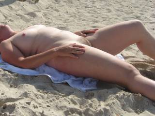 People looking is part of being at a nude beach - just as displaying is