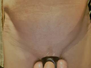 Another pic of the new cock ring / ball splitter. Looking for comments.