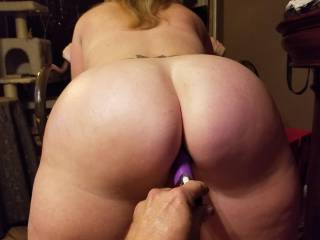 Toy in her pussy