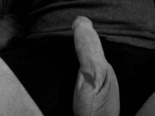just screwing around watching some hot ZG! action and took a quick snapshot of my mostly stiff dick for your comments and enjoyment!