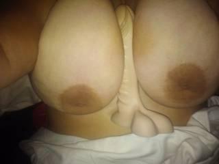 I'd like to slide my cock between those big tits!
