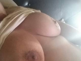 my pleasure would be to tease and massage and suck your sexy tits