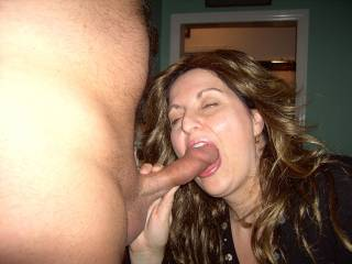 She looks great with your dick in her mouth!