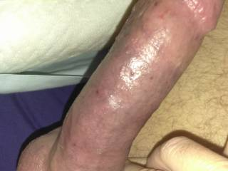 Was looking at hot ass fucking videos and pics on ZG while lying in bed, got my cock rock hard. Had to rub one out.