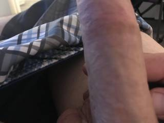 My hard cock thinking about Kiki coming over to fuck in the morning