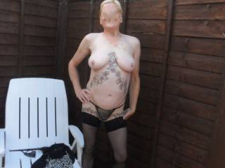 Hi all just catching some summer sun comments please mature couple