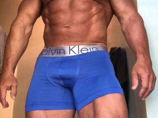 Showing off my Calvin\'s on my 50th B-day