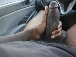 I got horny after walking the track so I went to my car and started masterbating in the car.