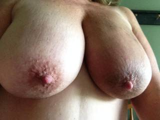 i'd never tire of your hot tits, especially as they swing over me while you ride my hard curved cock, me pulling those lush nipples good and hard