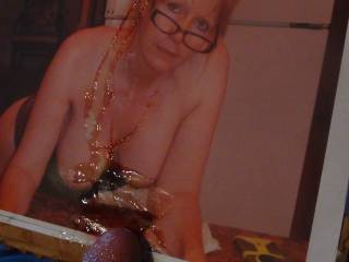 mdj2000 gets a messy load all over her big tits!......want cum too?