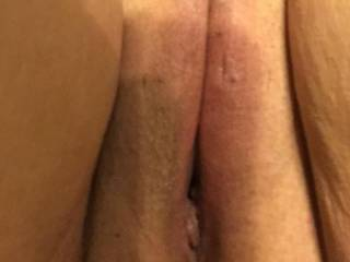 Freshly shaved pussy. Want a lick?
