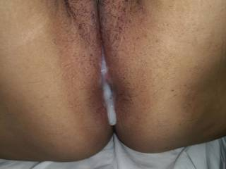 After a good fuck.. My pussy is dripping milk for a long time