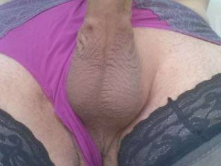 I love to wear women\'s panties. that makes me very horny