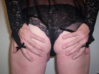 I want to fuck your tight ass and stroke your hard cock while you are wearing that hot little outfit