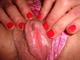 Showing you my hard clit!