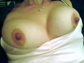 what beautiful pointed tits, love it.. more, more licks and squzzes