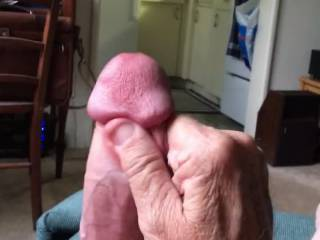 Very horny and no friends to play with so I had to take things into my own hands.  I'd much rather a friendly hand, mouth or pussy to work my throbbing cock.  Can I watch it disappear in your .......?