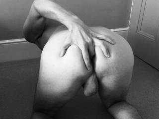 My finger out, slide your cock in...