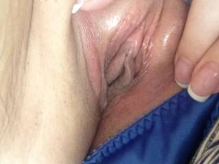Wife sharing her breast