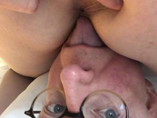 Licking Jamie's pussy and asshole