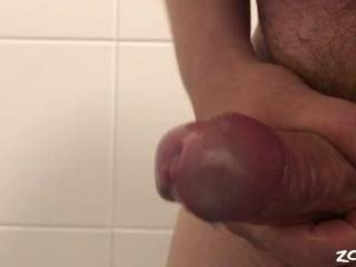 just a quick release after a horny session. Nice amount of thick cum.