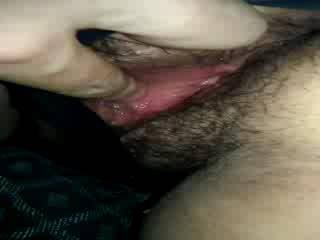 I like to help finger and eat her hairy pussy