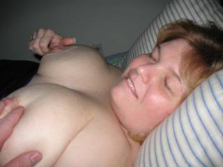 sweet, wish i was pulling your nipples while you were strokin my hard cock.mmmmmm