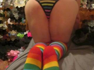 Love them socks and that ass would look so good rolling up and down my thick cock