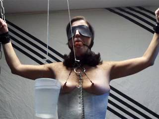 Just alittle bondage and nipple play...