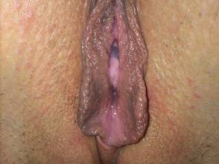 So wish I could tongue tease n taste that juicy pussy until your flavours flood my mouth and you're gasping for me to fuck you with my big thick hard throbbing cock...Great close up of a pussy I quite literally ache to taste!