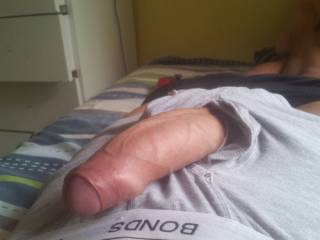 Mmmm...love to give that hot uncut cock some attention.....licking and sucking...deep throating till your hot cum hits deep in the back of my throat