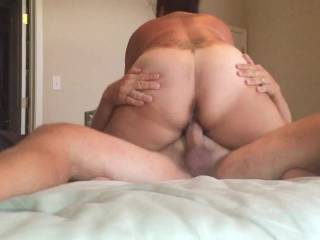 Sorry. Day late. Part 1.  Riding Mr.H and grinding on his cock. I cum good and get messy. Hope you approve!  Part 2 tomorrow.  LayYa xoxo