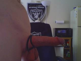 using my new triple cock ring