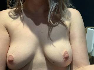 I bet your big cock wants to cum all over these tits.