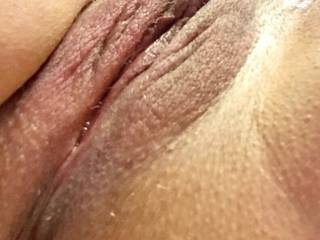 Enlarged clit with a wet pussy.  Ready for a big dick to fill me up !