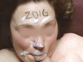 Enjoying a face full of hot cum just for Zoig!