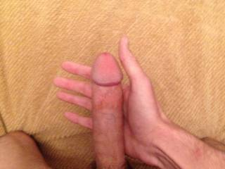 my cock on display just waiting to be sucked